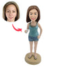 Summer Casual Woman Custom Bobbleheads - BobbleGifts
