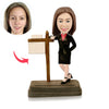 Female Realtor Custom Bobbleheads - BobbleGifts