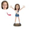 Custom Cheerleader Bobblehead - BobbleGifts