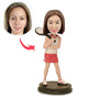 Female Tennis Player Custom Bobbleheads - BobbleGifts