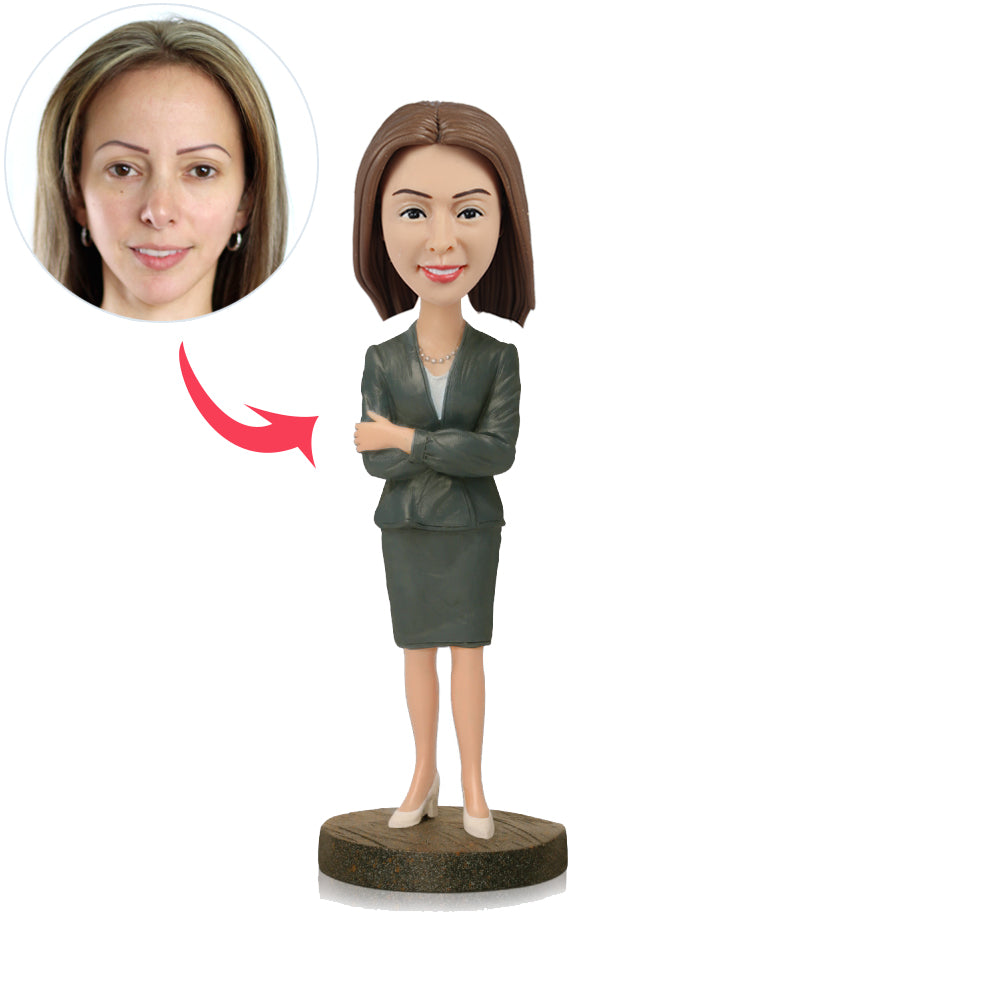 Female Executive Custom Bobbleheads - BobbleGifts
