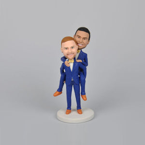 Wedding Groomsmen in Blue Suit Custom Bobbleheads