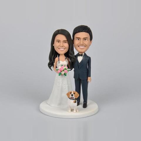 Doctor Wedding Couple Wedding Cake Topper Custom Bobbleheads