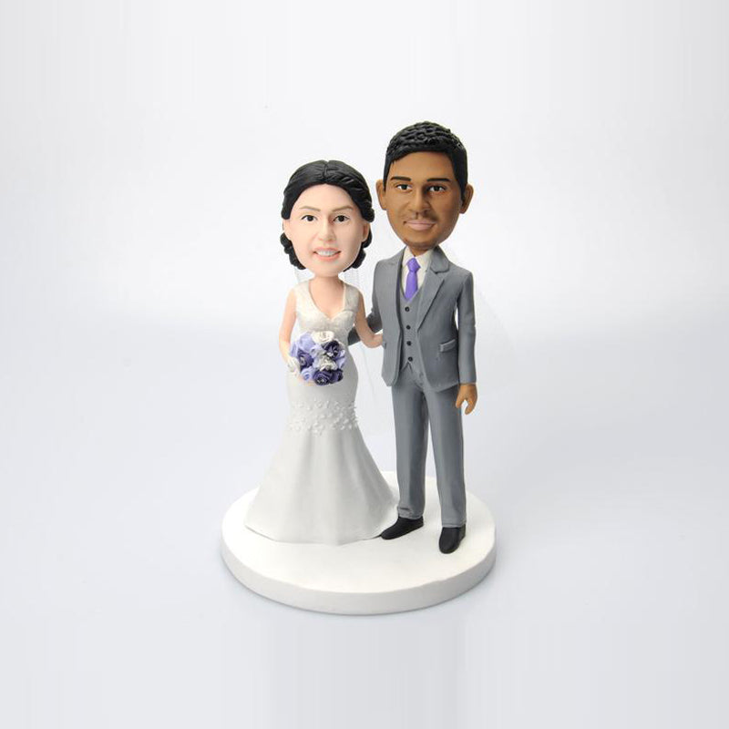 Wedding Couples Cake Topper Custom Bobbleheads