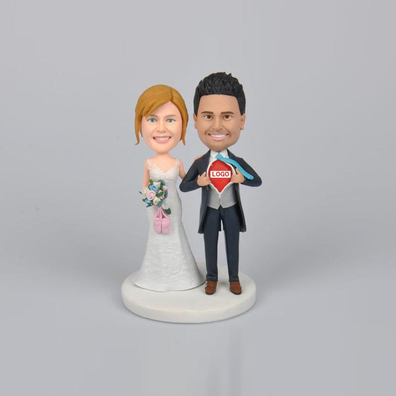 Personalized Wedding Couples Cake Topper - BobbleGifts