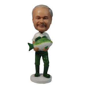 Fishing Man Personalized Custom Bobbleheads