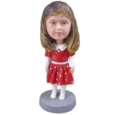 Christmas Girl Personalized Custom Bobbleheads - BobbleGifts