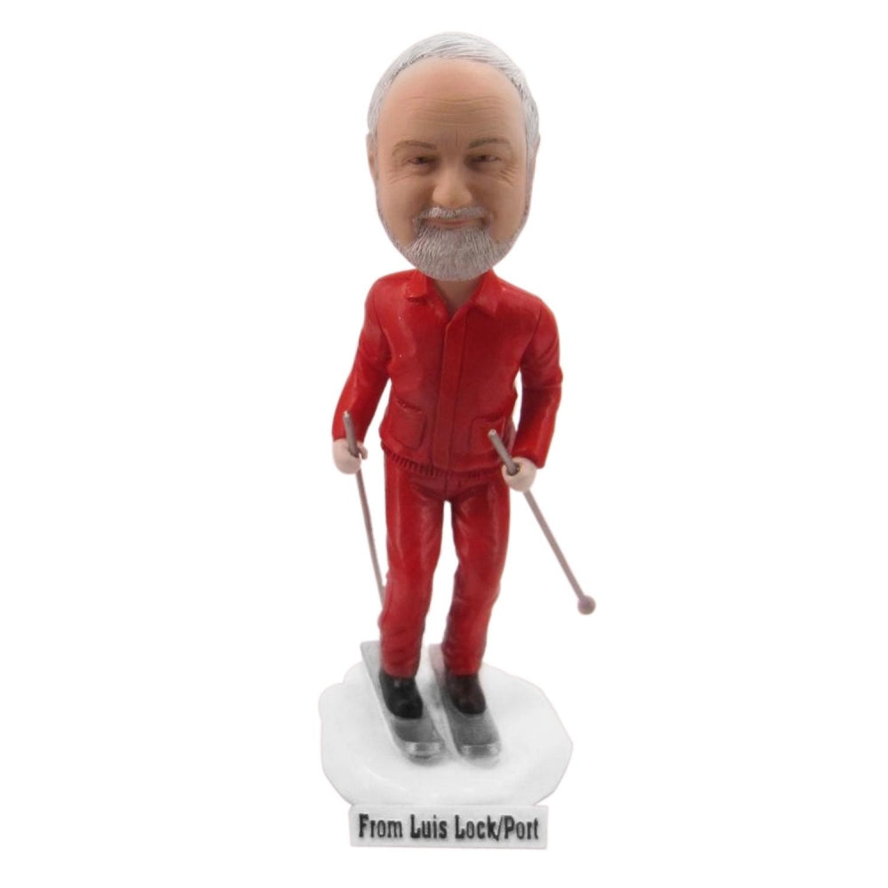 Skiing Man Personalized Custom Bobbleheads