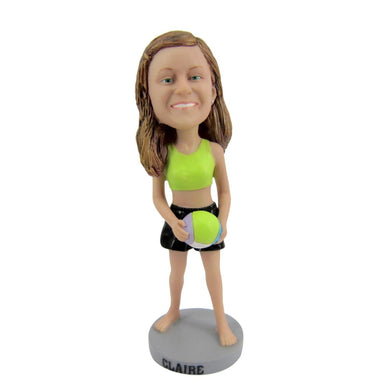 Volleyball Woman Personalized Custom Bobbleheads