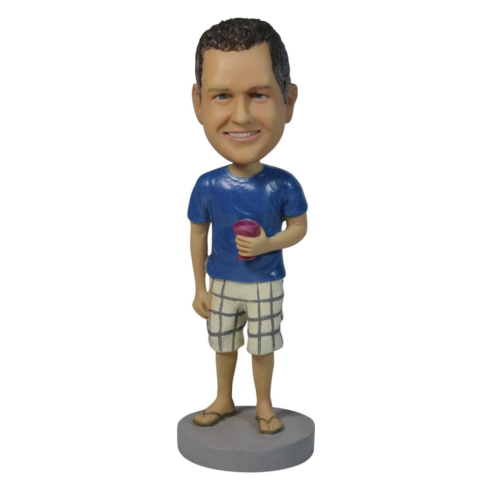 Casual Tea Man Personalized Custom Bobbleheads