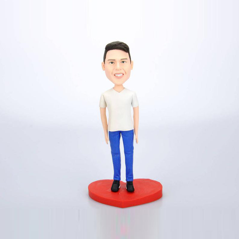 Custom Man Casual Bobbleheads Dolls