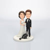 Custom Wedding Couple Bobblehead with Cat - BobbleGifts
