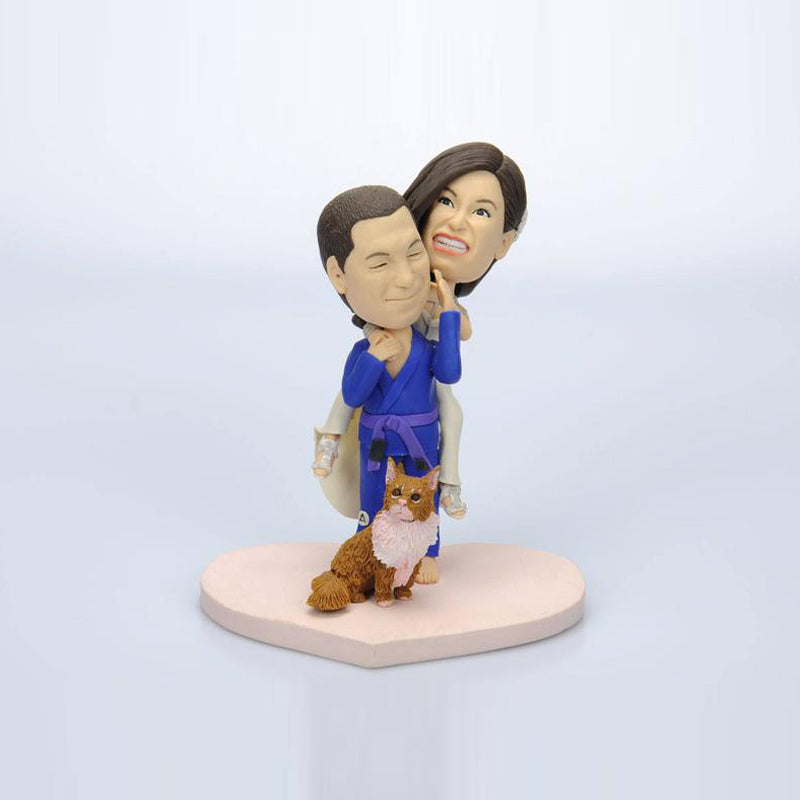 Custom Taekwondo Player Bobblehead - BobbleGifts