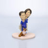 Custom Taekwondo Player Wedding Cake Topper Bobblehead