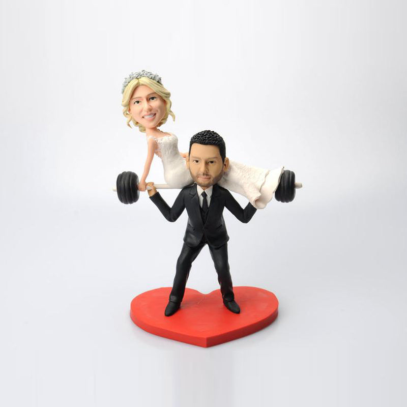 Custom Weight Lifting Bobbleheads - BobbleGifts
