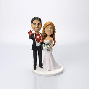 Funny Movie Wedding Cake Topper Bobblehead Custom