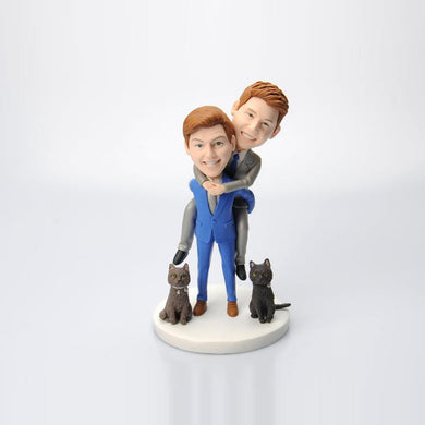 Male Couple Wedding Bobbleheads Doll Custom Made