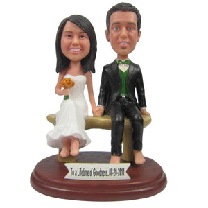 Custom Wedding Cake Topper Bobbleheads - BobbleGifts