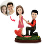 Custom Engagement Couple Bobbleheads - BobbleGifts