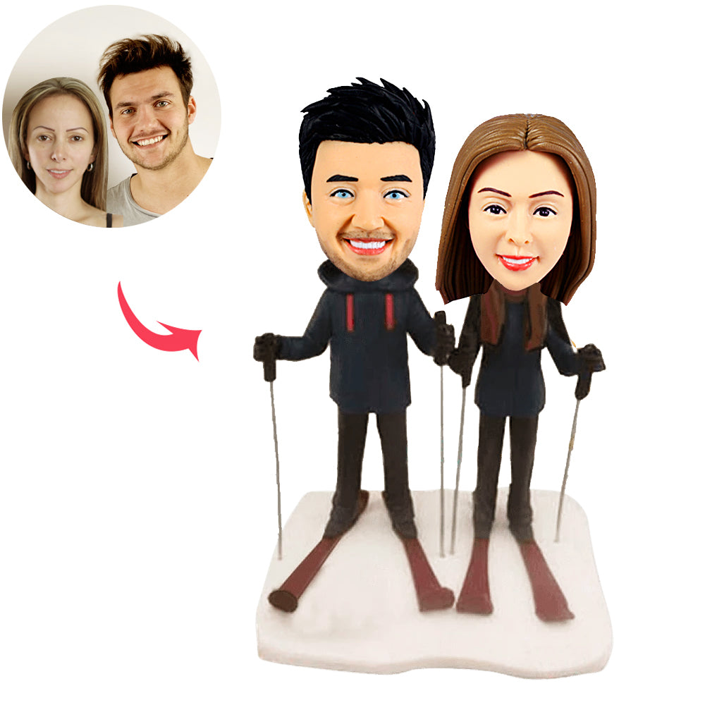 Ski Couples Custom Sports Bobblehead - BobbleGifts