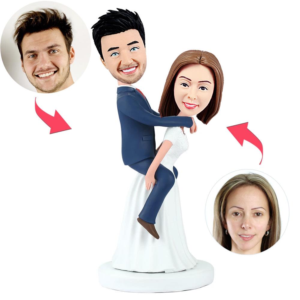 Funny Couple Wedding Cake Topper Bobblehead - BobbleGifts