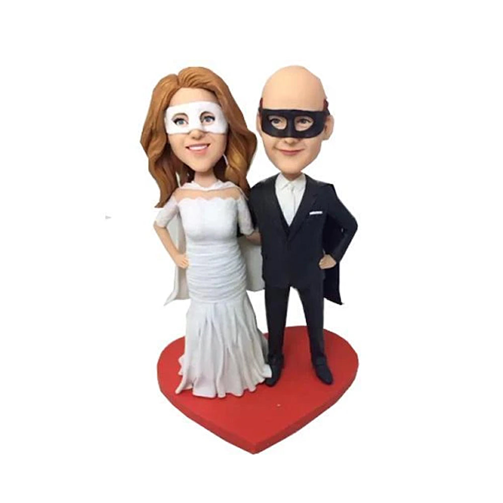 Masquerade Couple Custom Bobbleheads - BobbleGifts