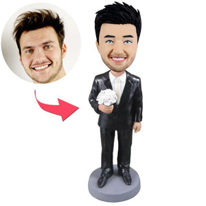 Custom Bridegroom Bobbleheads - BobbleGifts