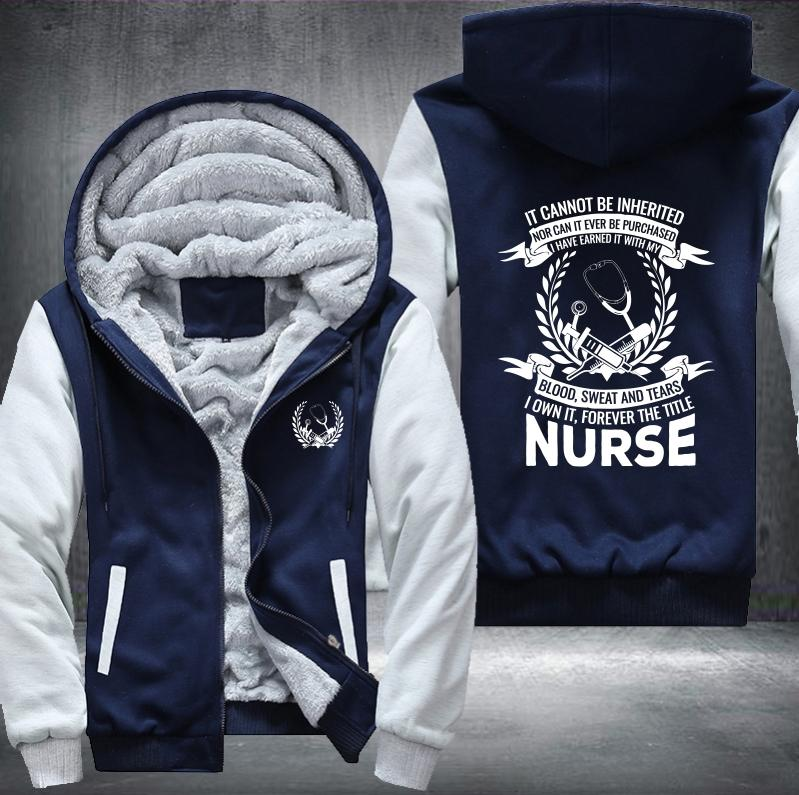 Nurse Title Fleece Jacket - LIMITED EDITION