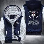 Nurses Can Sedate Stupid Fleece Jacket - 50% OFF - LIMITED EDITION
