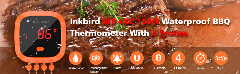 IBT-4XC BBQ Thermometer Banner