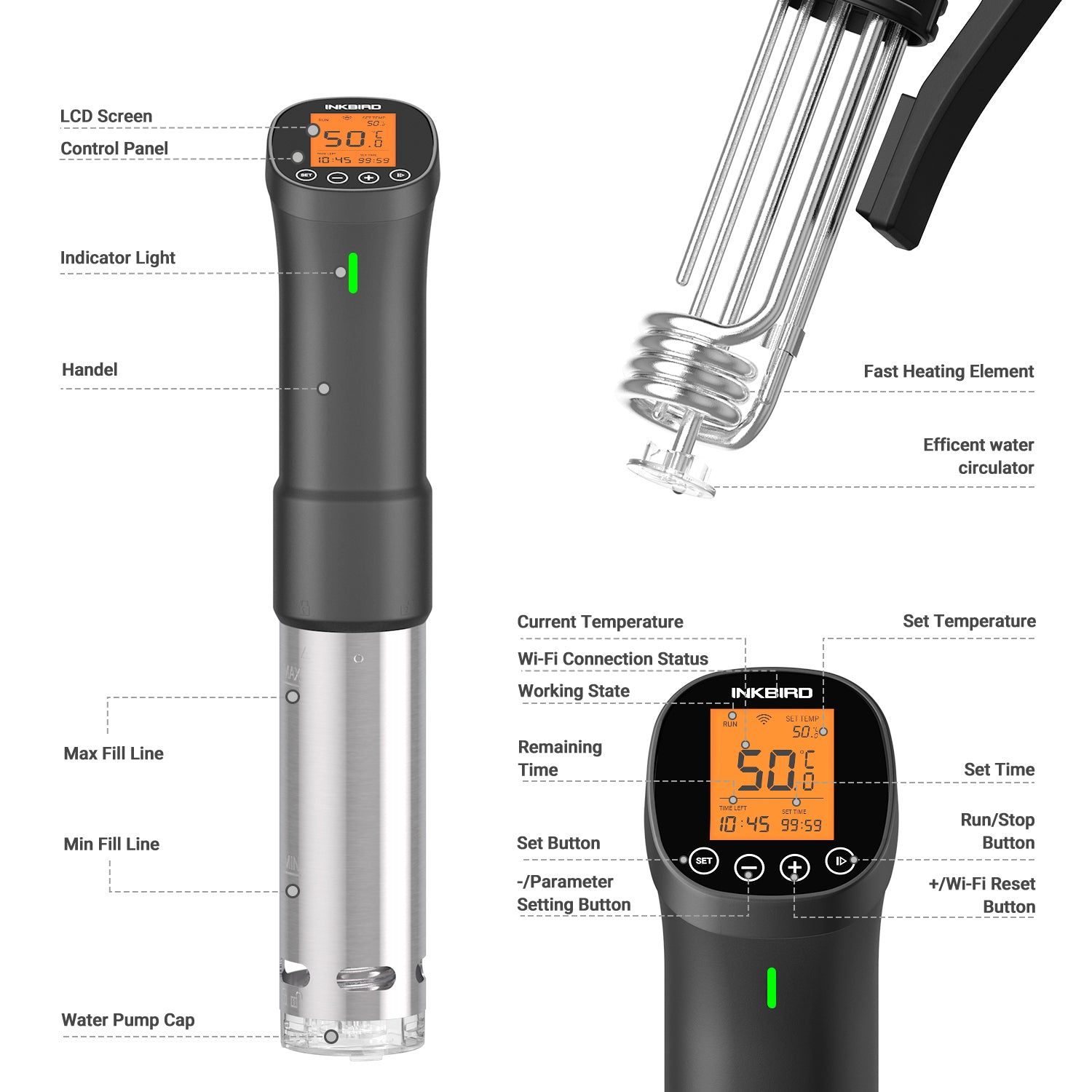 Inkbird ISV-200W Wi-Fi Immersion Circulator Precision Sous Vide Cooker