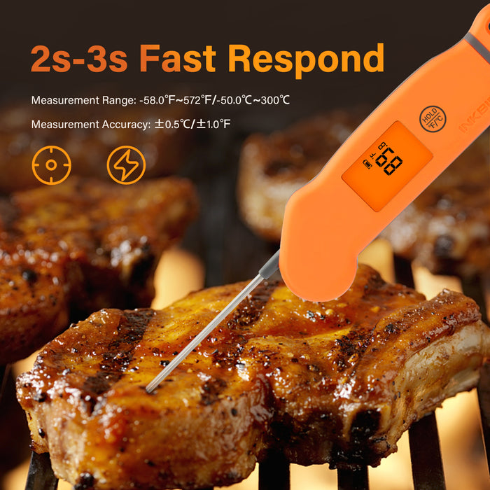 Inkbird IHT-1S Waterproof Digital Meat Thermometer with Rotatable Screen