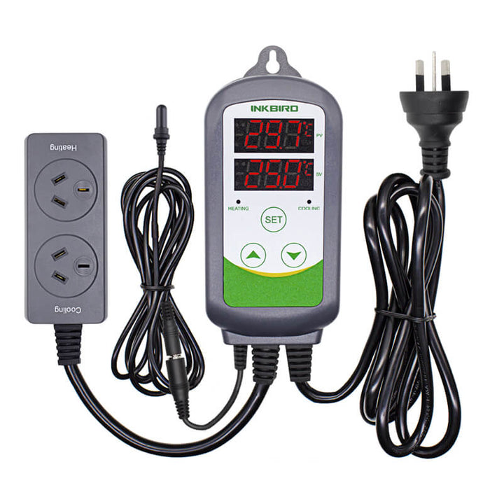 Inkbird ITC-308S with Aquarium probe Heating and Cooling Dual Stage Temperature Controller