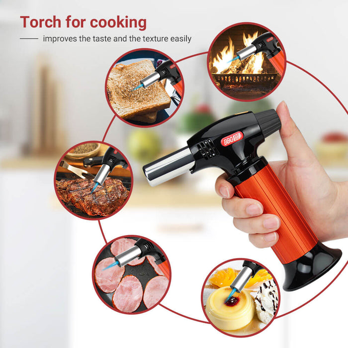 INKBIRD Professional Kitchen Cooking Butane Torch with Safety Lock Torch BG-KT01