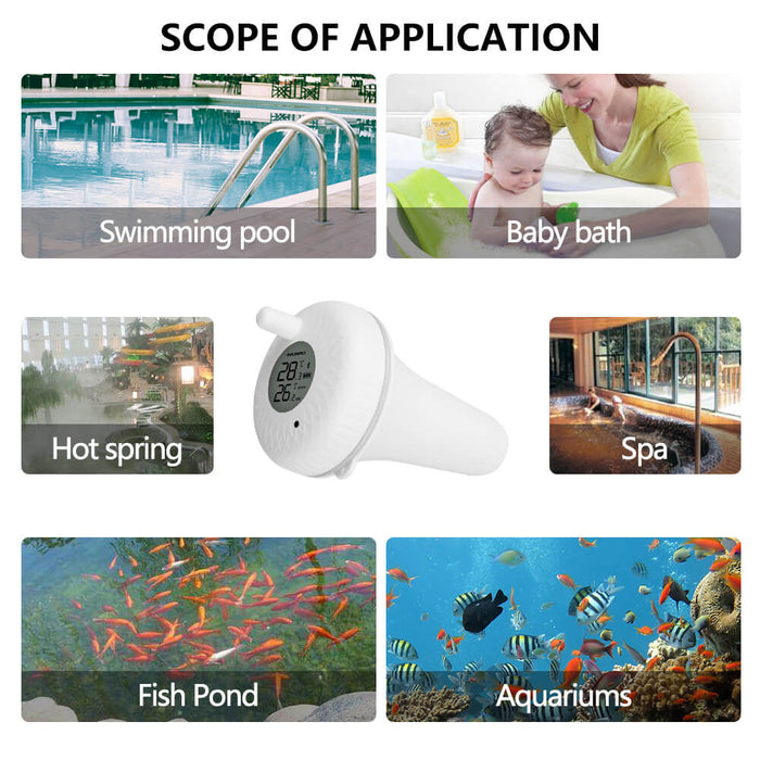 Inkbird IBS-P01 Indoor & Outdoor Floating Pool Thermometer for Bath Water, Spas, Aquariums