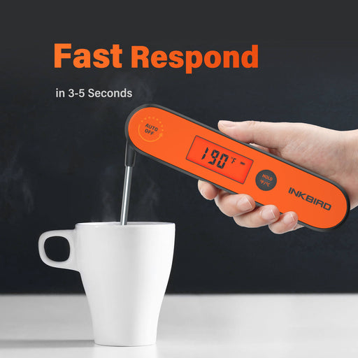 Inkbird Rechargeable Waterproof Instant Read Kitchen BBQ Thermometer IHT-1P