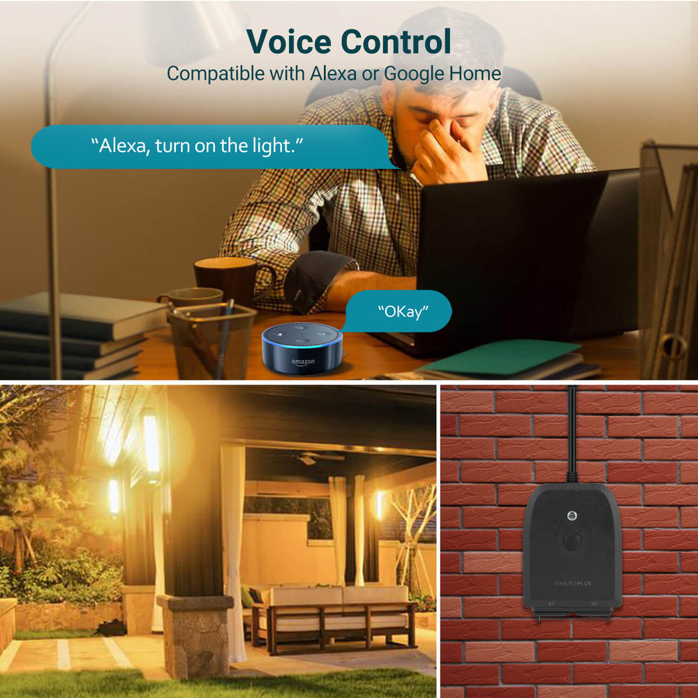 INKBIRD Smart Home Wi-Fi Outdoor Plug, Works with Alexa&Google Home
