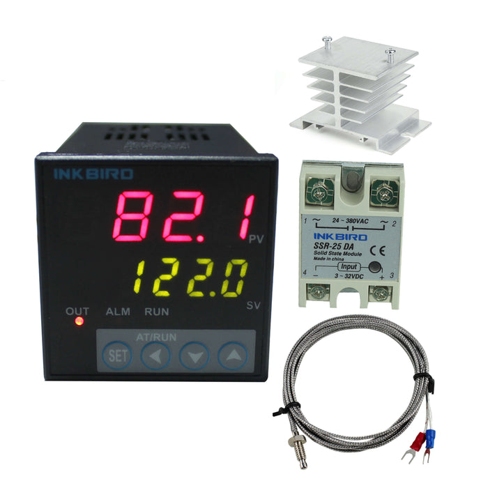 Inkbird F & C Display PID Temperature Controllers Thermostat ITC-106 with K sensor