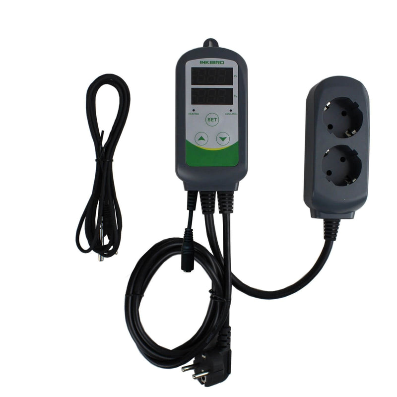 Inkbird ITC-308S Pre-Wired Digital Dual Stage Temperature Controller, Outlet Thermostats