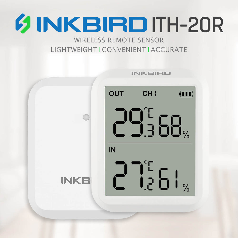 Inkbird Digital Hygrometer ITH-20R Indoor Outdoor Thermometer Humidity Gauge Indicator Room Thermometer