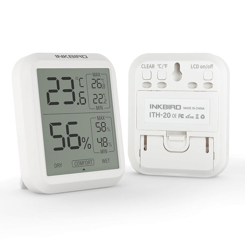 Inkbird ITH-20 Digital Thermometer and Hygrometer Temperature Humidity Gauge Monitor