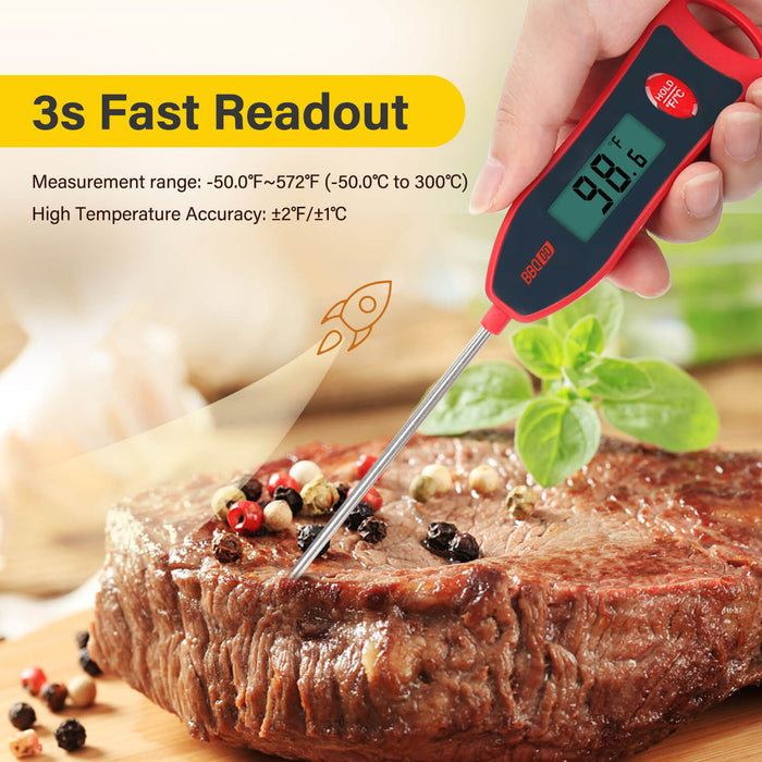 INKBIRD BG-HH1D Digital Instant Read Food Thermometer with Backlight 2 packs