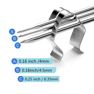 Thermometer Clip Holder Grill Probe Clip Grill Thermometer Clip Temperature Sensor Clip Thermometer Probe Clips Made Of Stainless Steel For Bbq Smoker Oven Grill Temperature Monitor 6pcs