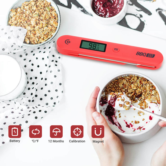 Inkbird BG-HH1C Digital Instant Read Cooking Food Thermometer with Foldable Probe