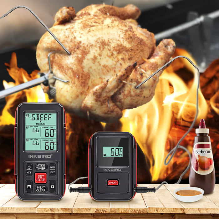 Inkbird IRF-2S 1000 Feet Wireless Remote Digital Food Meat Cooking Thermometer with Backlight