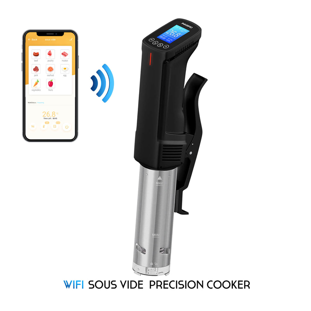 Inkbird WiFi Sous Vide Cooker ISV-100W with Stainless Steel Thermal Immersion Circulator for Kitchen