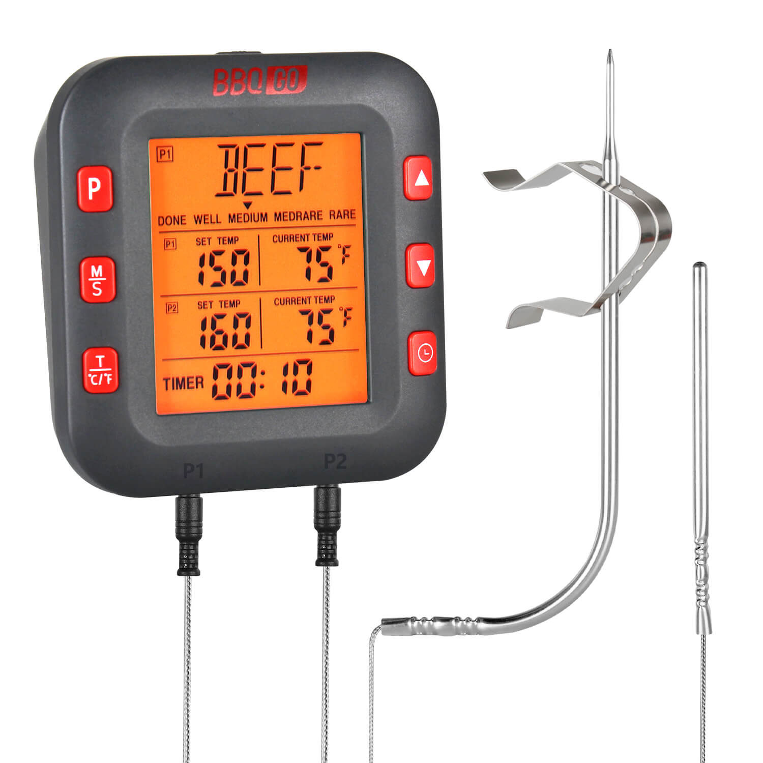 Inkbird Large LCD Display bbq meat programmable thermometer BG-CT2C