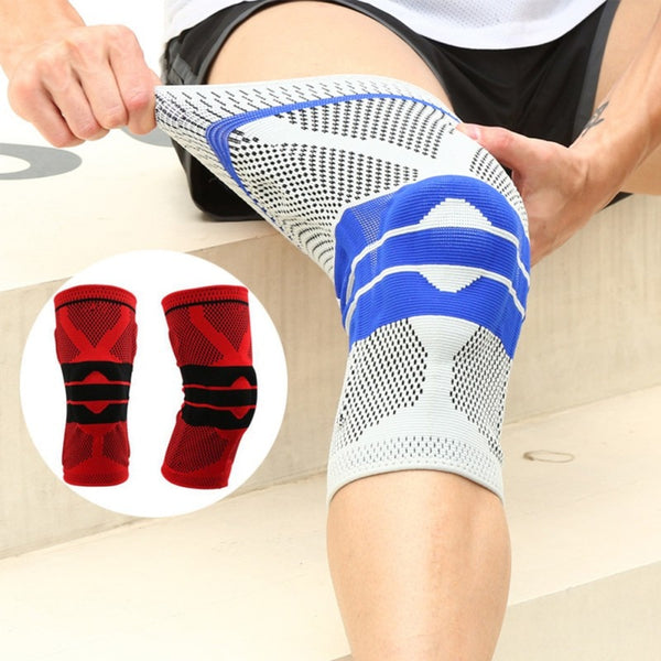 Sports Silicon Padded Kneepad Support Brace
