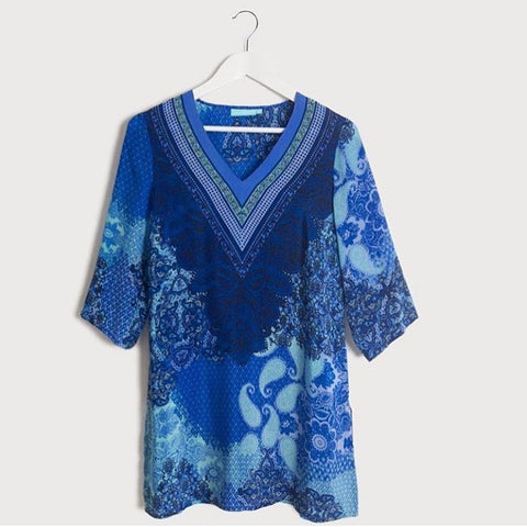 Blue illusion Spring/Summer 16 Kaftan Collection