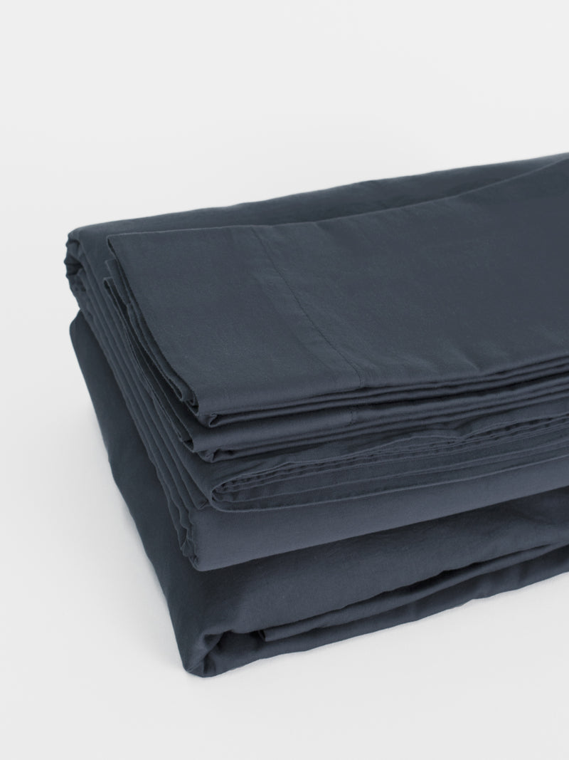 Matteo Washed Sateen Sheet Set